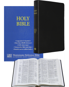 Large Print Westminster Reference Bible (calfskin) - Black