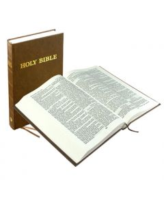 Comfort Text Bible (Hardback)- Brown