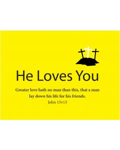 TfT! He Loves You (Yellow Postcard)