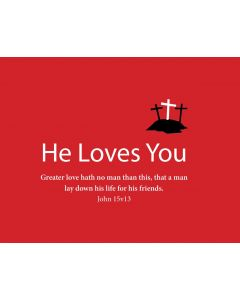 TfT! He Loves You (Red Business Card)