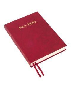 Large Print Windsor Text Bible (hardback) - Red