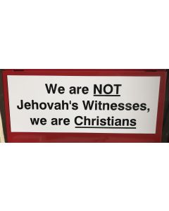 Front JW Small Sign for Gospel Cart