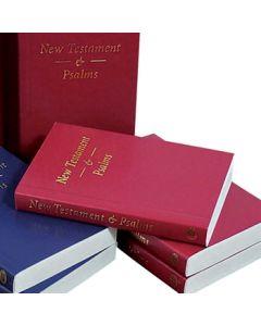 Pocket New Testament and Psalms (vinyl paperback) - Red