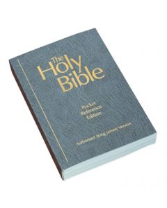 Pocket Reference Bible (vinyl paperback) - Soft Grey