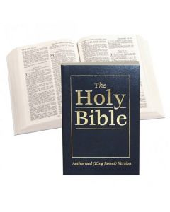 Royal Ruby Text Bible (vinyl paperback) - Blue