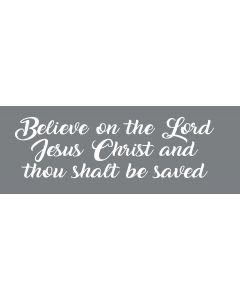 TfT - Window and car transfers / decal-stickers - Believe on the Lord