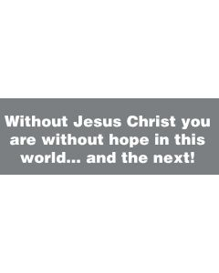 TfT - Window and car transfers / decal-stickers - Without Jesus Christ