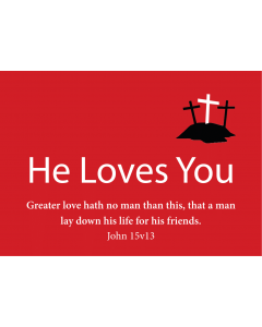 TfT! He Loves You (Red Postcard Card)