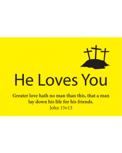 TfT! He Loves You (Yellow Business Card)