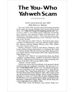 The You-Who Yahweh Scam - Tract