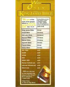 Why Only The King James Bible Tract by Gail Riplinger