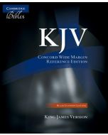 Cambridge KJV Concord Wide Margin Reference Bible, Black Edge-Lined Goatskin Leather