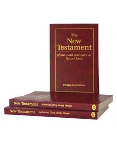 Paragraphed New Testament - Burgundy