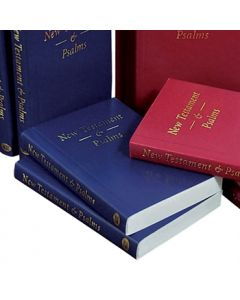 Pocket New Testament and Psalms (vinyl paperback) - Blue