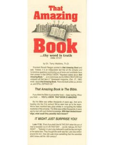 That Amazing Book - Tract by Dr Terry Watkins