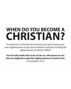 When do you become a Christian? front