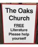 Front Church Magnetic Sign for Gospel Cart